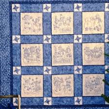 Lots of Friendly Snowmen in 9 Quilt Blocks Set with  Chilly  Blue ... & Picture of Snow Much Fun Quilt - Hand Embroidery Adamdwight.com