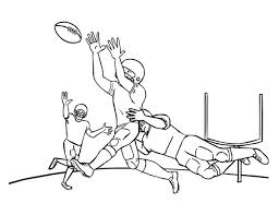 Small Picture NFL Game at Rose Bowl Colouring Page Happy Colouring
