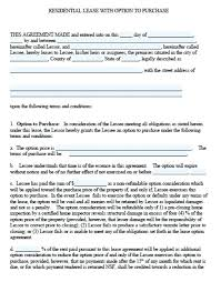 lease purchase contract. Contemporary Contract Residential Lease Purchase Agreement Template  W Option To And Lease Purchase Contract N