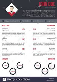 New Cv Resume Template In Red And Dark Gray Stock Vector Art