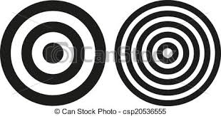 Bullseye Pattern Beauteous Two Simple Bullseye Targets Set Of 48 Isolated Simple Black And