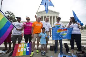 supreme court rules gay marriage is a nationwide right wsj gay marriage supporters gather outside the supreme court before the ruling on friday