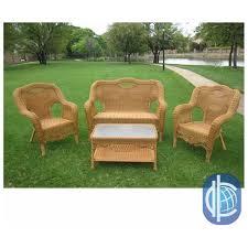 international caravan maui outdoor loveseat chairs and coffee table set 0