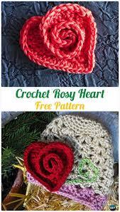 Crochet Heart Pattern Free Magnificent Crochet Heart Applique Free Patterns