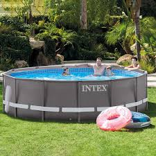 intex ultra frame round pool intex above ground pool rectangle17 ground