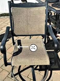 patio chair repair broken patio chair repair patio chair slings fix outdoor furniture