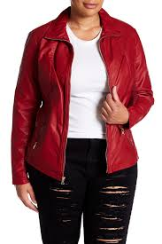 Kenneth Cole New York Faux Leather Moto Jacket Plus Size Nordstrom Rack