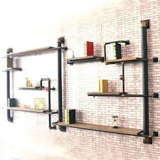 industrial style shelving. Industrial Style Shelving Wall Shelves Floating Decor Looking .