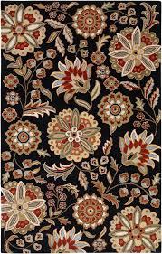 surya athena ath 5017 black area rug