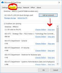 stop syncing a folder in onedrive