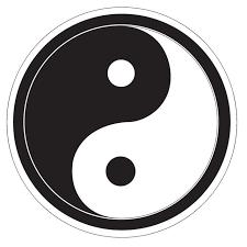 Yin Yang Samolepka