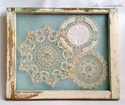 Antique Windows Shabby Chic Vintage Doily Display Using A Salvaged Window Frame