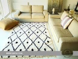 white and black area rug carpet for home decor kanich tunisia rugs