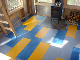 linoleum in either sheets or tiles can be very striking