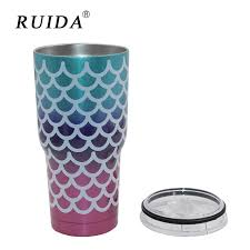 <b>RUIDA</b> 30oz Mermaid Tumbler Cups Triple Insulated Stainless Steel ...