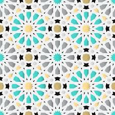 Arabic Pattern Islamic Seamless Background Traditional Geometric Arabic Pattern Vector Illustration Art Print