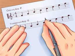 B Flat Clarinet Transposition Chart How To Transpose Music From C To B Flat 4 Steps With Pictures