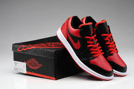 nike shoes red and black. new nike air jordan 1 low og bred shoes black red 705329 001 men sneaker basketball and