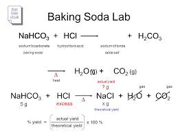 baking soda lab na nahco3 hco3 hcl h cl h2co3 h2co3 h2o co2