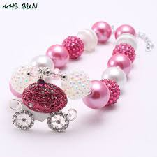 2019 <b>Pretty Pink</b> Carrige Pendant Kid Chunky Necklace Newest ...
