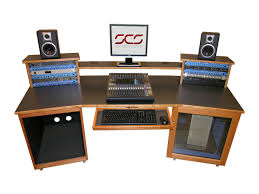 recording studio mixing desk for digital audio workstations and control surfaces scs