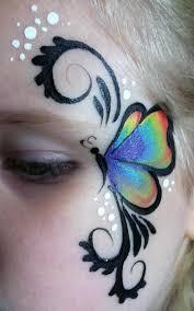 erfly eye love this simple design simpele vlinder schmink gepind door hierishetfeest eye face painting