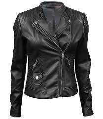 top women s vegan leather cafe racer jacket