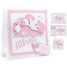 New Baby Girl Card Personalised Baby Boy Card 3d Handmade