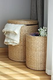 Handwoven round storage baskets/laundry basket/ straw basket /Footstool/Ikea/wedding