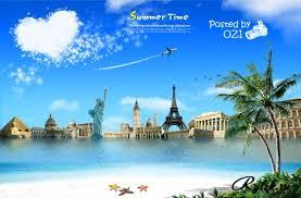 Европа летний отдых туризм europe psd