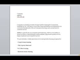 Sample Proposal For Janitorial Services And Commercial Cleaning