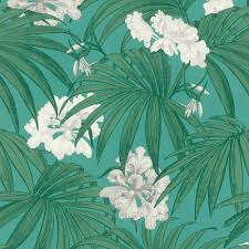Flower Pattern Wallpaper Awesome Rasch White Flower Pattern Wallpaper Floral Leaf Motif Textured Teal