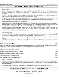 Computer Support Technician Resume Computer Support Specialist