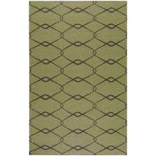 jill rosenwald lime green 5 ft x 8 ft flatweave area rug