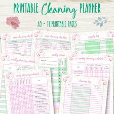 Weekly Checklist House Cleaning Checklist A5 Cleaning Planner Printable Etsy