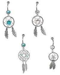 Dream Catcher Belly Button Rings Buy 100 PC Dream Catcher Belly Button Ring Variety Pack 1100 gauge 100 89