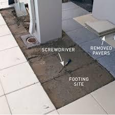 step 1 lift the pavers handyman