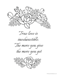 6 Must Have Love Quote Coloring Pages For Your Rockin Coloring