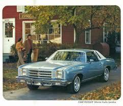 A 1977 Chevy Monte Carlo Landau.   Machines that inspire me, are ...