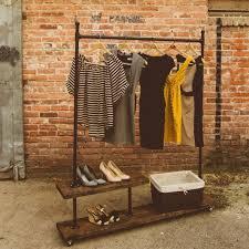 pipe wood garment rack google search