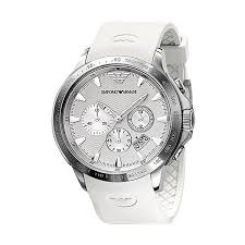 cheap mens armani watches emporio armani ceramics white strap chronograph mens watch ar5850