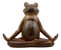 ebros rustic contented yoga frog garden