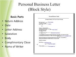 Personal Business Letter Block Style Sample Personal Business Letter Format New Collection Solutions