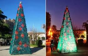 Christmas Decorations Made Out Of Plastic Bottles Recycled Christmas Tree Raises Awareness for the Environment The 92