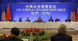 chinese president xi jinping center addresses a u s china business roundtable comprised