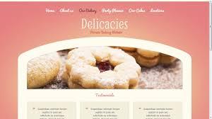 Bakery Website Template Youtube