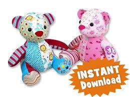 Animal Sewing Patterns Enchanting Melody Memory Bear Keepsake Toy INSTANT DOWNLOAD Sewing Pattern PDF