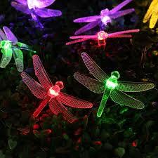 Dragonfly Garden Lights Luckled Dragonfly Solar String Lights 15 7ft 20led