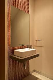 ... Powder Room Sink Small Powder Sink Vanities Red Rectangle Wall And  Large Mirror Samll ...