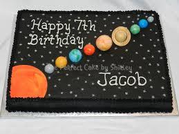 Solar System Sheet Cake Solar System Cake Buttercream Airbrushed